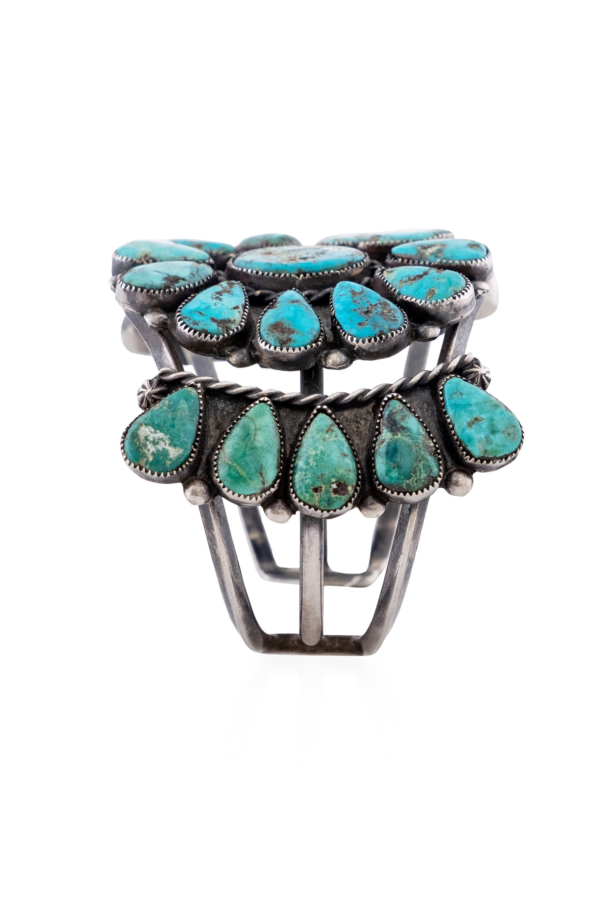 Cuff, Cluster, Turquoise, Navajo, Vintage, '60's, 2747
