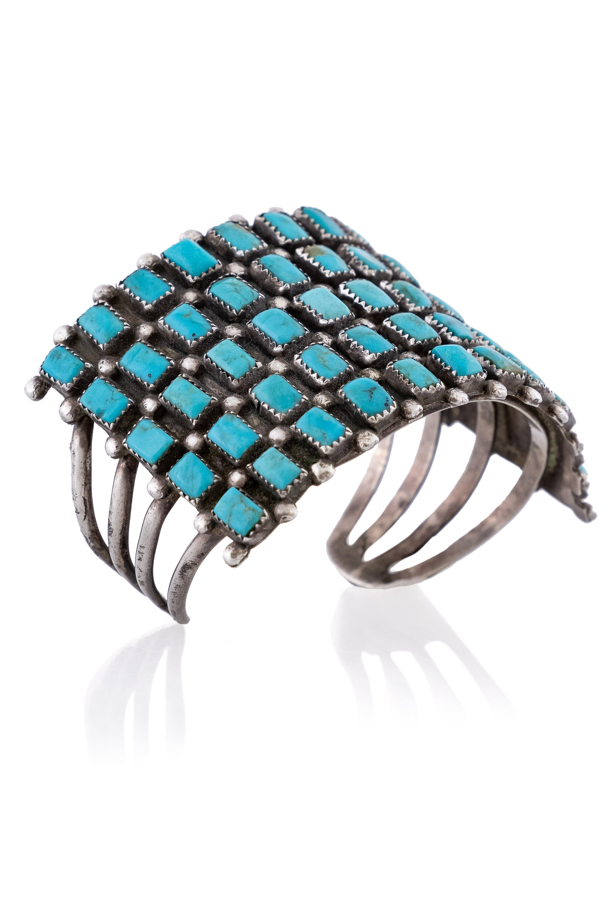 Cuff, Turquoise, Row, Vintage, '60s, 2702