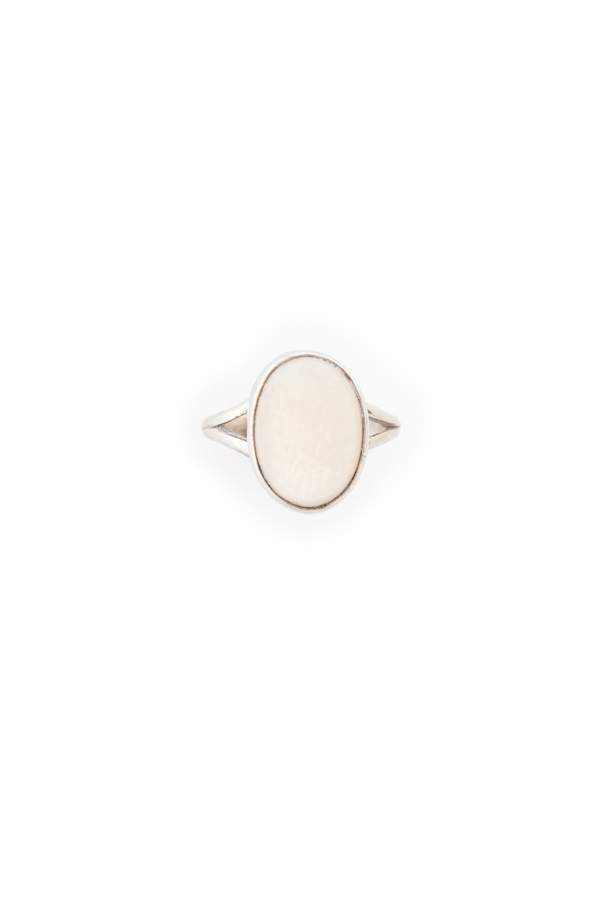 Ring, Mother of Pearl, Single Stone, Vintage, 532
