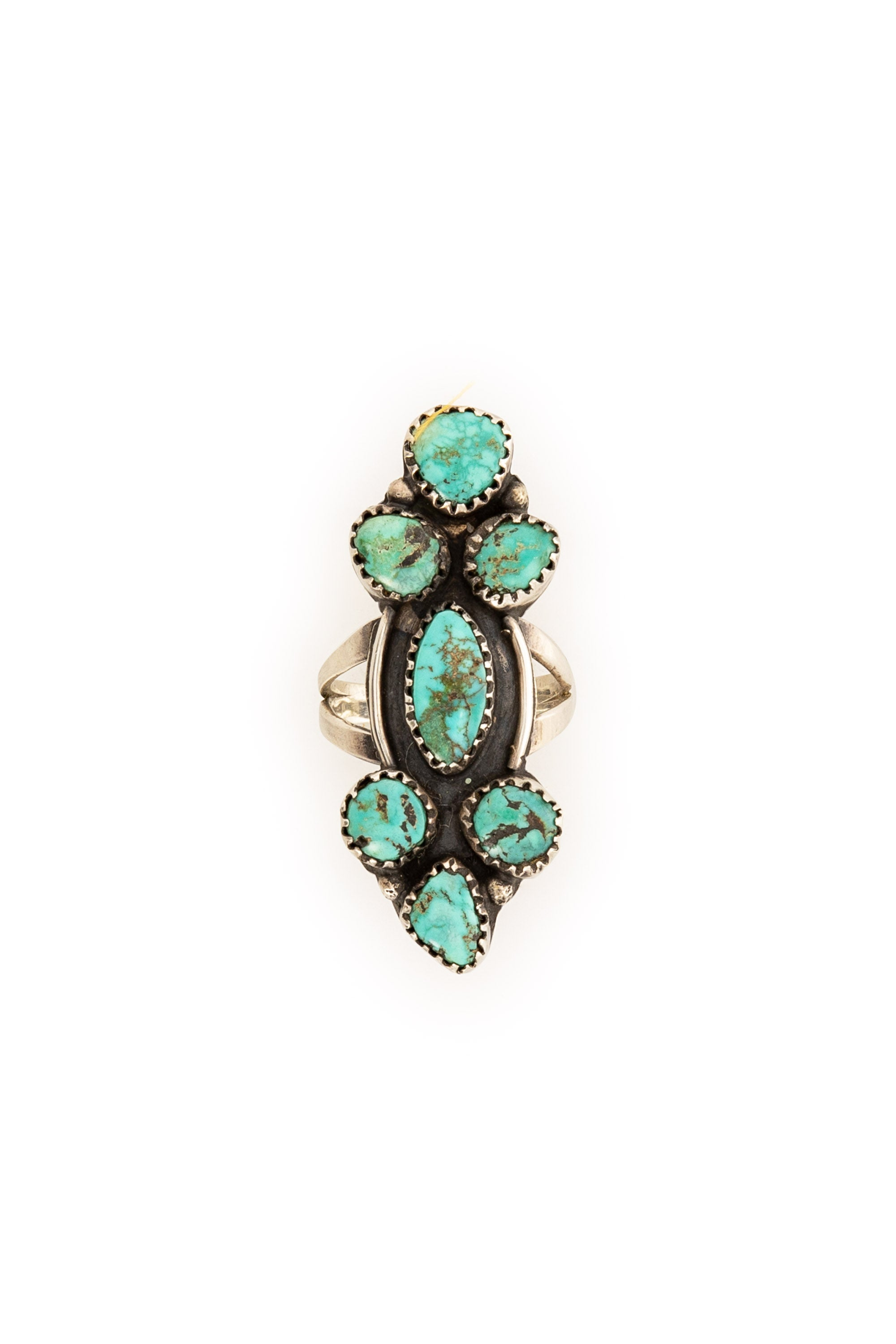 Ring, Turquoise, Multi Stone, Nugget, Vintage, 616