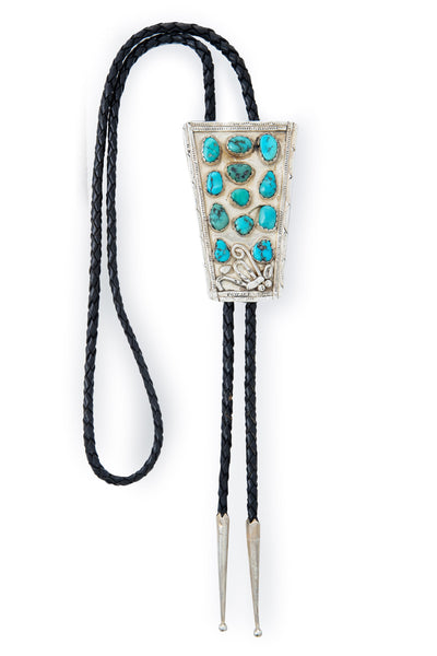 Bolo, Turquoise, Cluster,  Vintage, 999