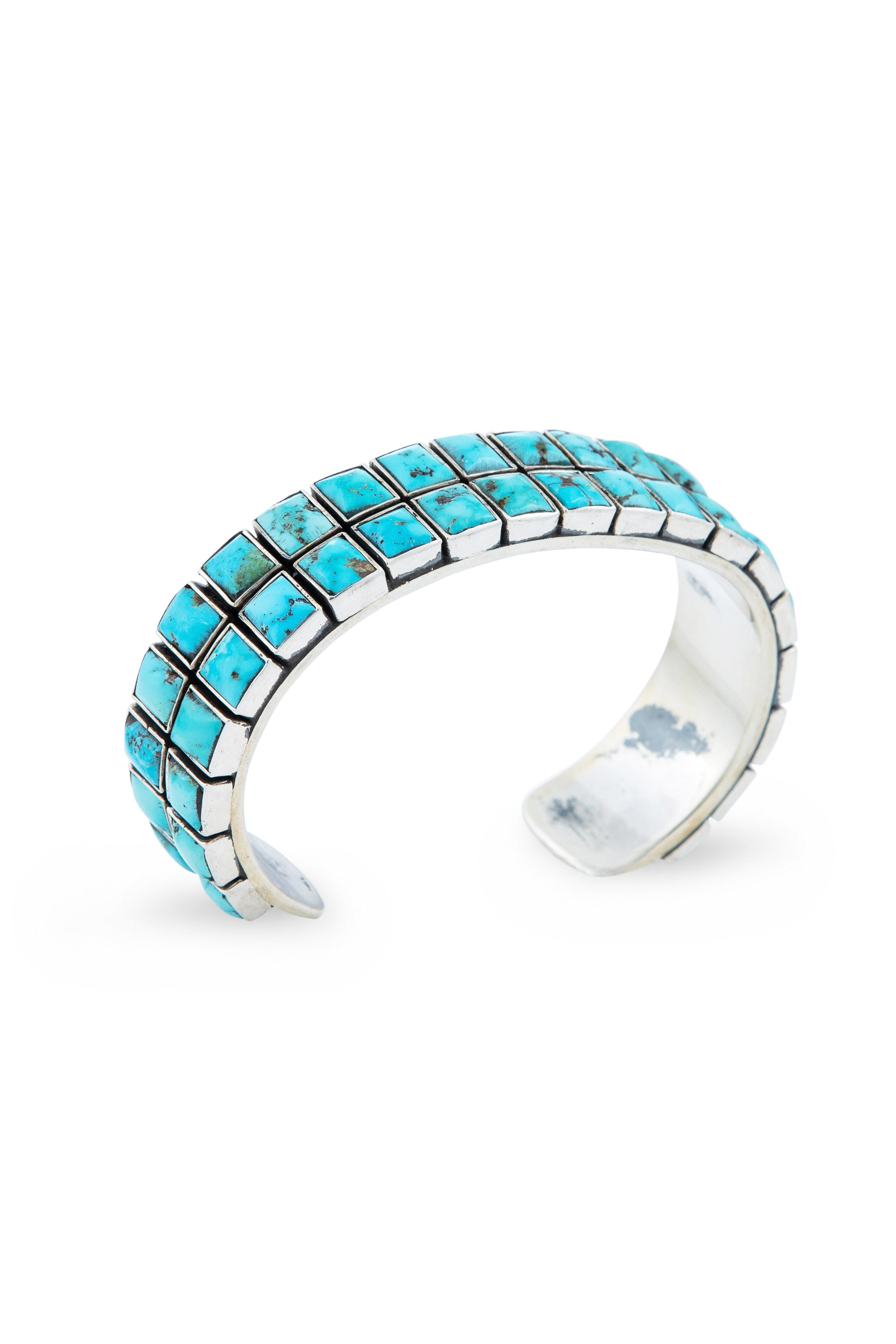 Cuff, Turquoise, 2 Row, 40 Stone, Federico, Contemporary,645