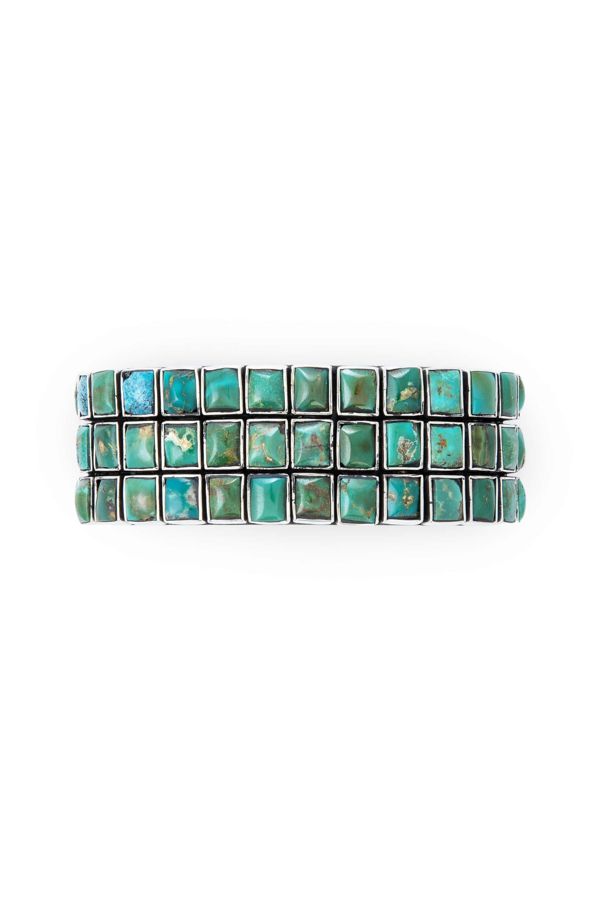 Cuff, Turquoise, 3 Row, 60 Stone, Federico, Contemporary,647