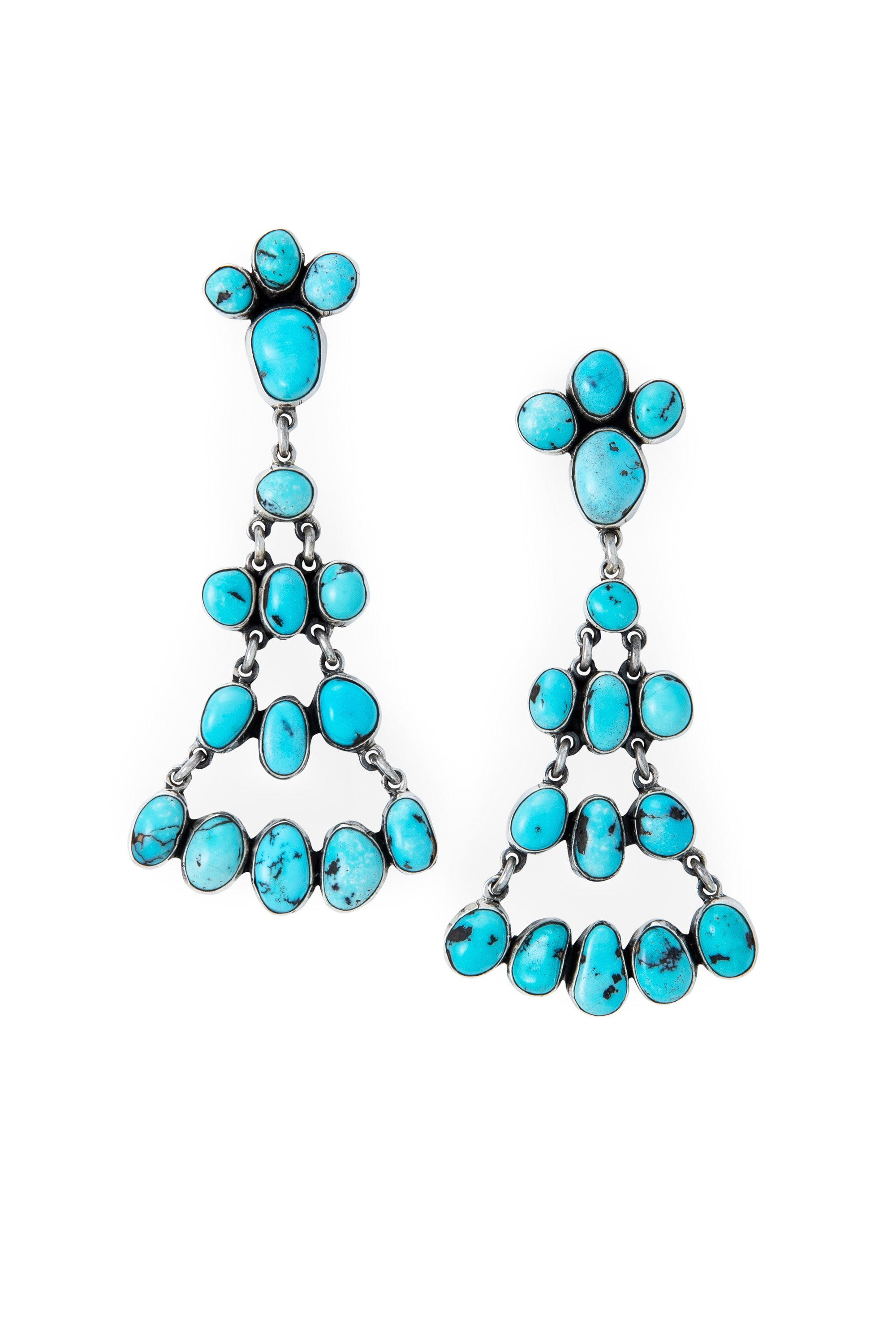 Earrings, Chandelier, Turquoise, Federico, Comtemporary,532