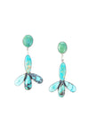 Earrings, Drop, Turquoise, Federico, Comtemporary, 538