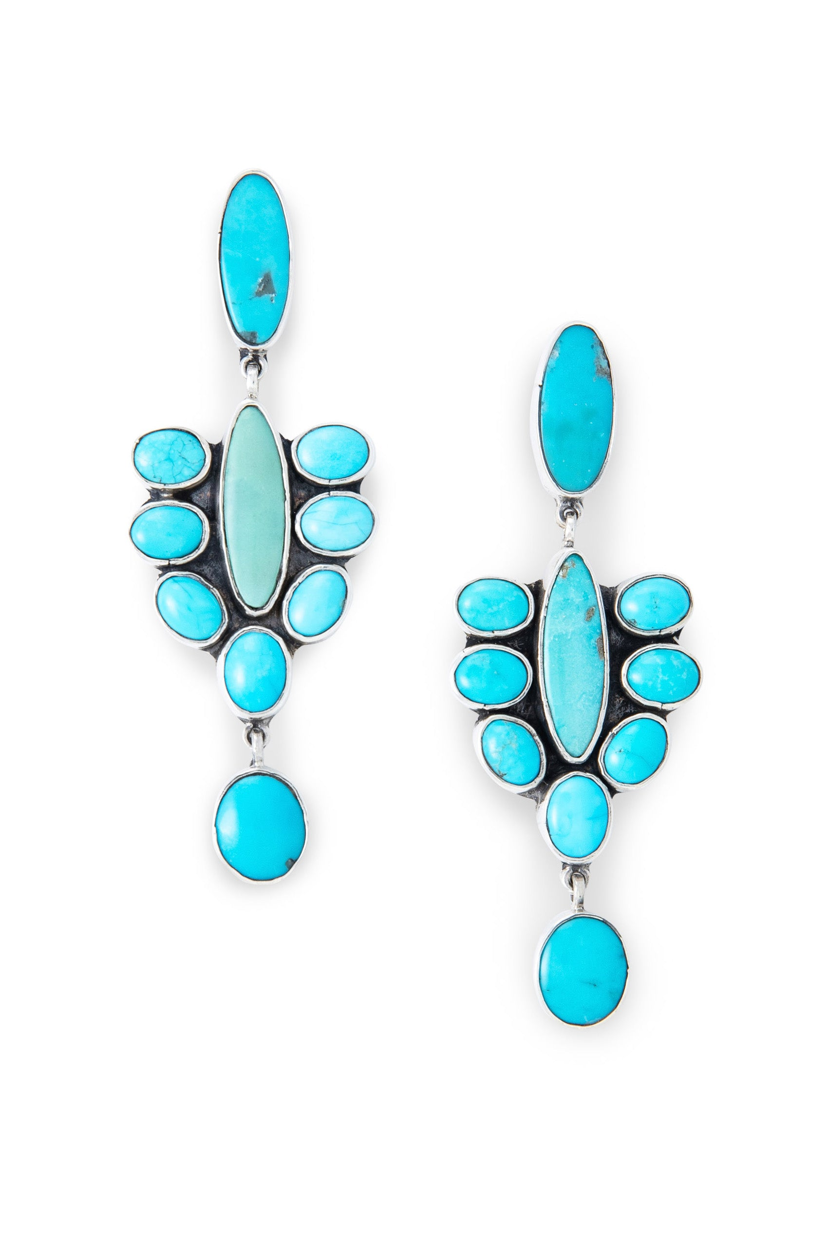Earrings, Drop, Turquoise, Federico, Comtemporary, 537