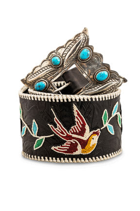 Belt, One of a Kind, Beaded, Vintage Navajo Buckle, 953