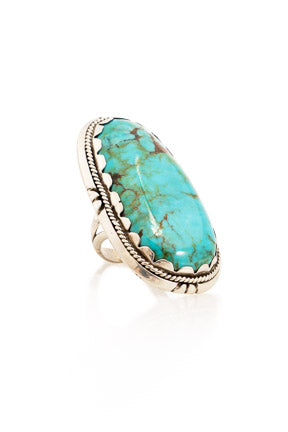 Ring, Turquoise, Single Stone, Hallmark, Vintage, 617