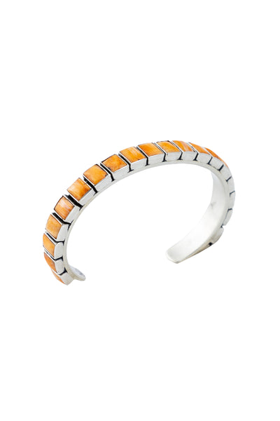 Cuff, Orange Spiney Oyster, Row, 20 Stone, Frederico, Contemporary,650