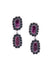Earrings, Drop, Purple Spiny Oyster, Federico, Contemporary, 672