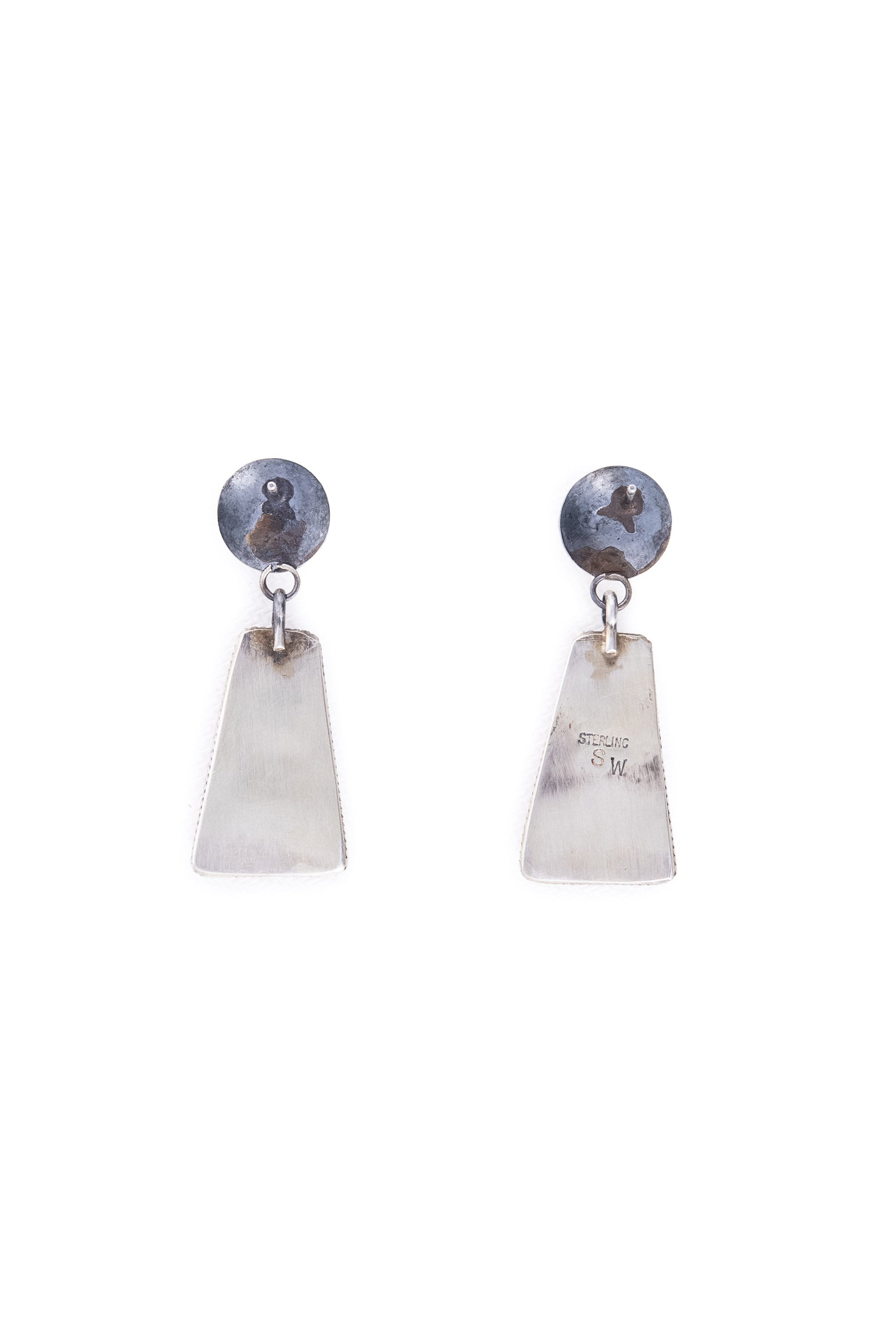Earrings, Drop, Orange Spiny Oyster, Hallmark, 676