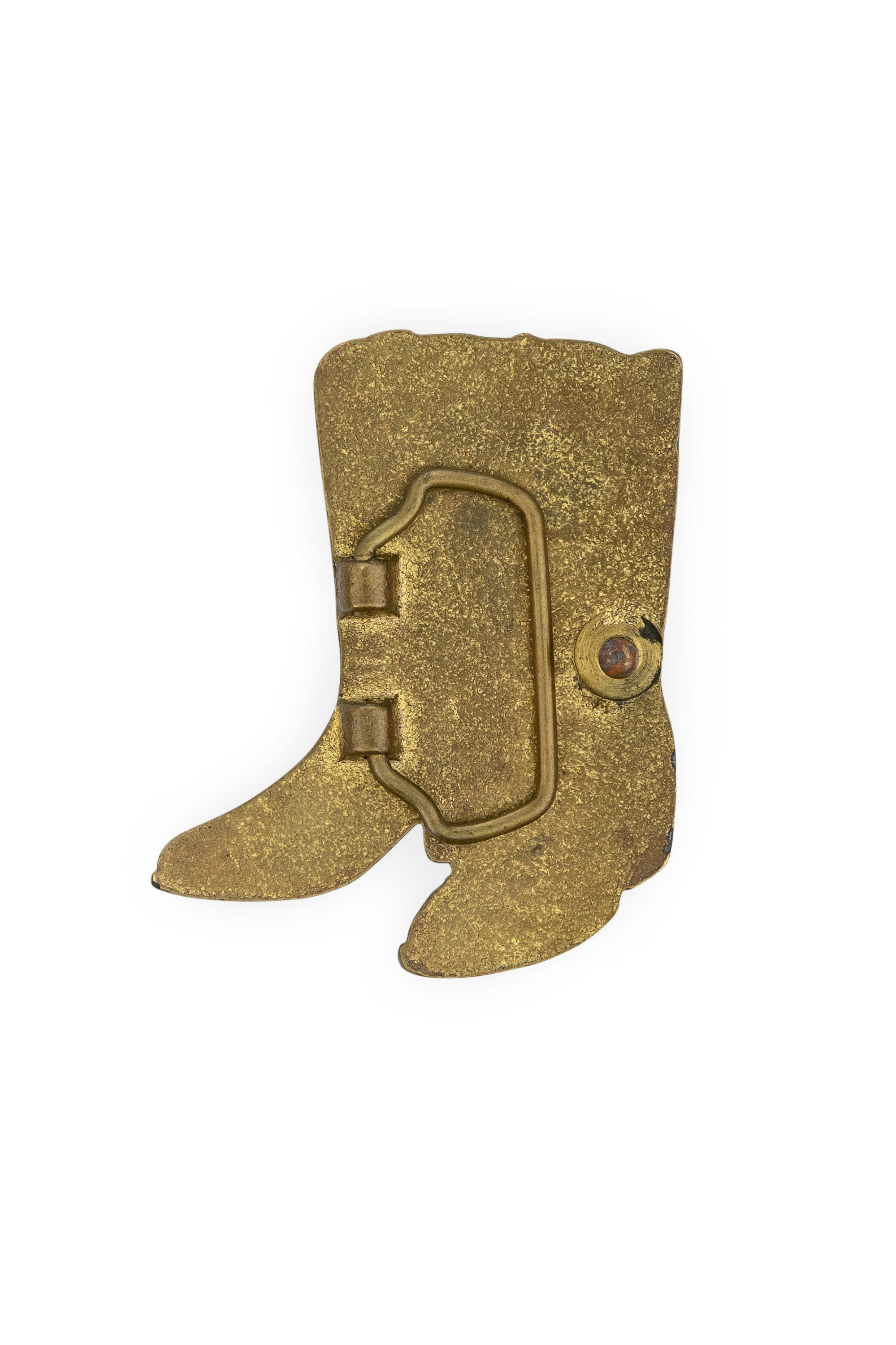 Buckle, Boots, Brass, Vintage, 111