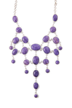 Necklace, Natural Stone, with Earrings, Hallmark, 790-2