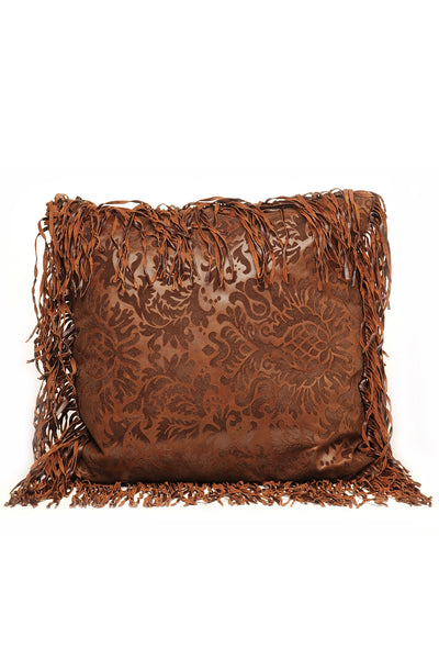 Flocked Damask Pillow