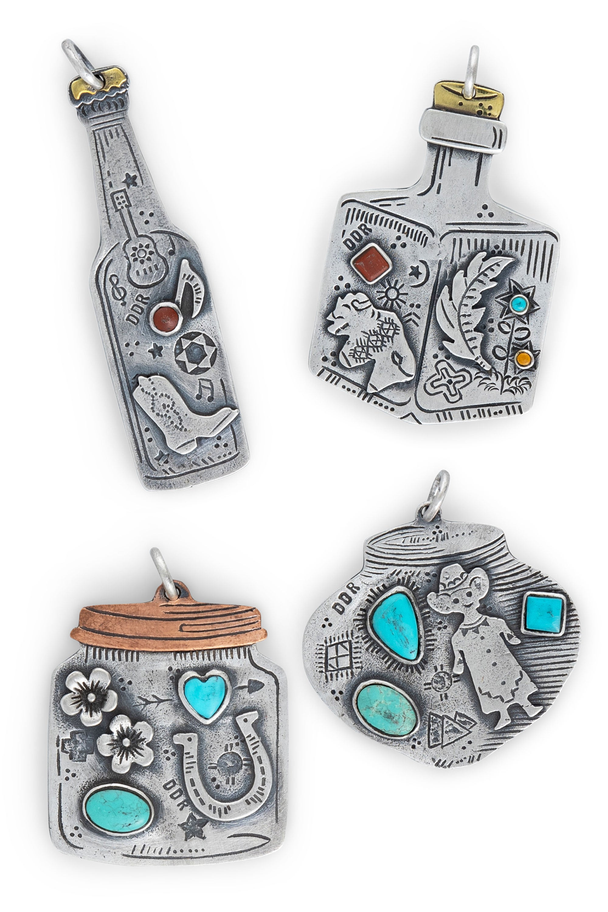 Charm, I Go Back Charm Collection, Set of 4