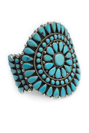 Vintage Cuff, Turquoise, Cluster, Wagon Wheel, 2117