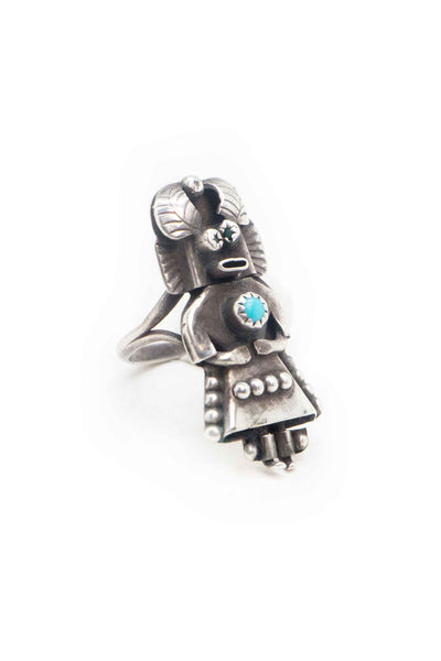 Ring, Turquoise, Kachina, Vintage, Estate, 587