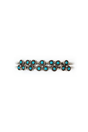 Cuff, Turquoise, Trifoil Snake Eye