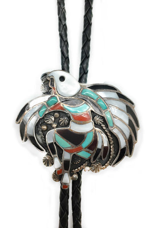 Bolo, Inlay, Vintage, Zuni, Eagle Dancer