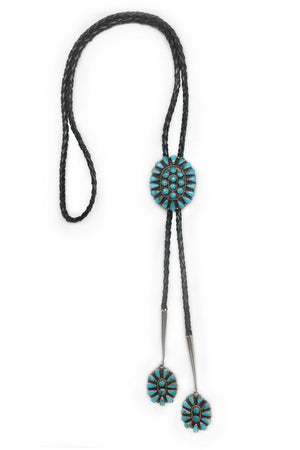 Bolo, Turquoise, Cluster, Vintage, 584