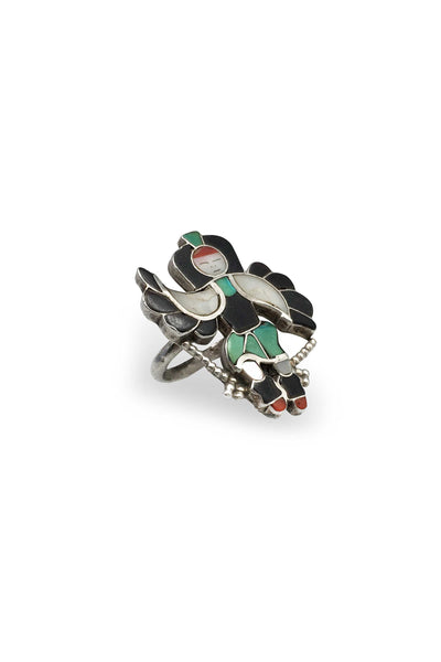 Ring, Inlay, Zuni, Eagle Dancer, Old Pawn