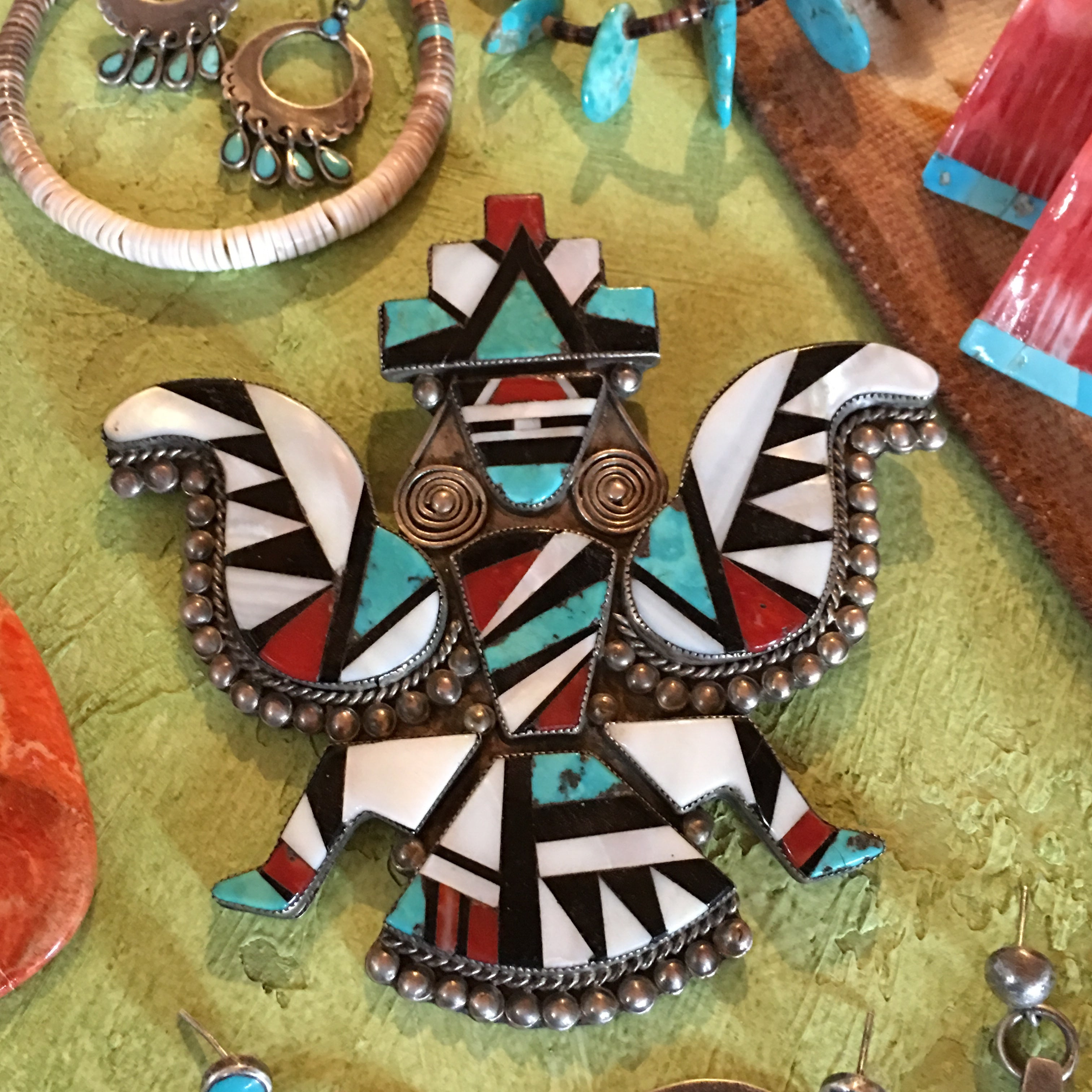 Pin, Zuni Inlay, Knifewing, Vintage, '50's, 497