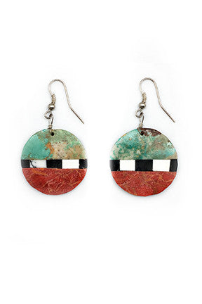 Kewa Contemporary Inlay Earring - Round  209