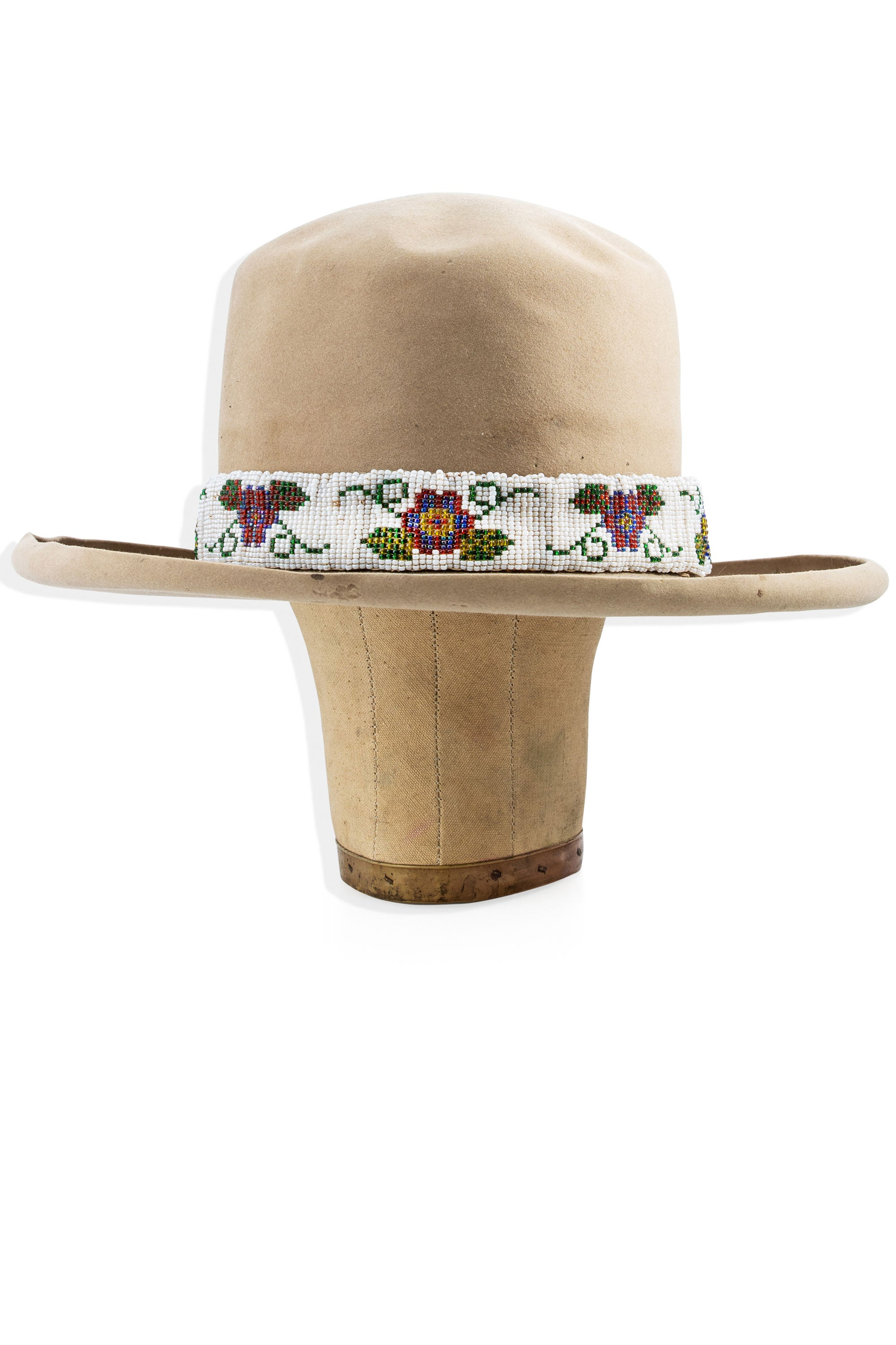 Hat Band, Beaded, Floral, Vintage '30s, 208