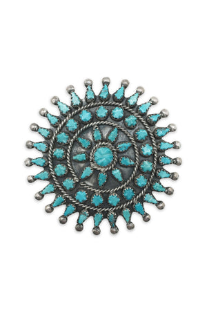 Pin, Turquoise, Cluster, Vintage, 207