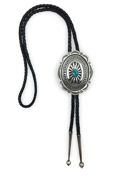 Bolo, Turquoise, Vintage, Concho Style, 722