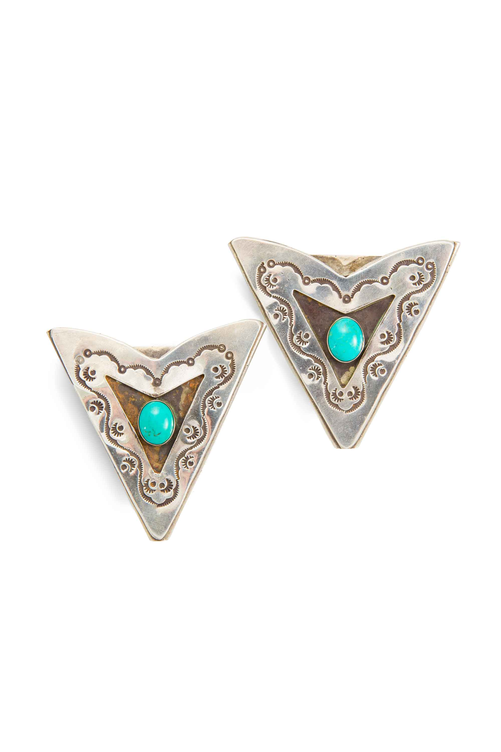 Collar Tips, Sterling Silver & Turquoise, Collection,  Jack's, 355
