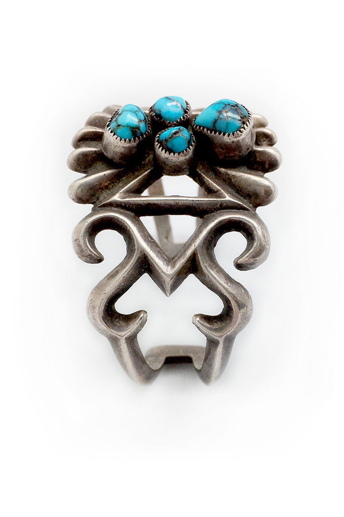 Vintage 1950's Cuff with Turquoise