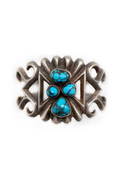 Cuff, Turquoise, Vintage, 1950's