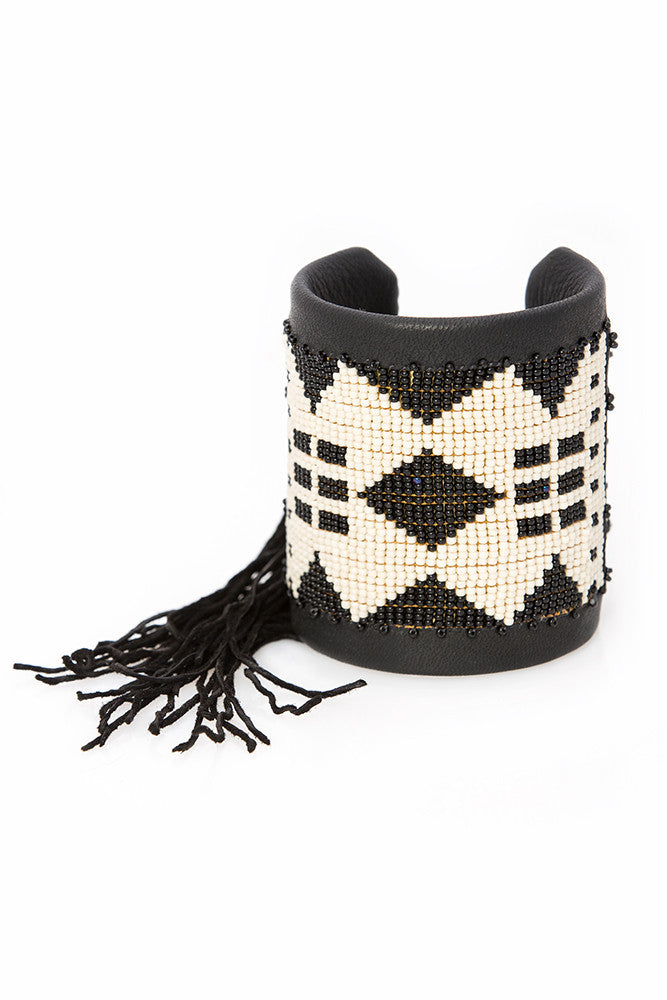 Black and White Traditional Cuff