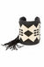Cuff, Beaded, Black and White Traditional