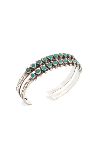 Cuff, Turquoise, Row, Snake Eyes, Old Pawn, 2329