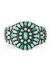 Cuff, Turquoise, Cluster, Vintage, 1940's, 2395