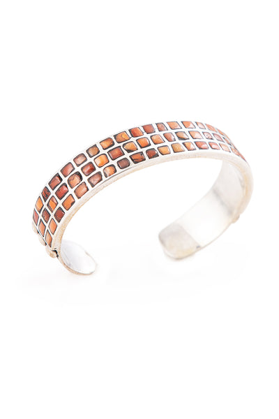 Cuff. Mosaic Inlay, Red Coral, 2474