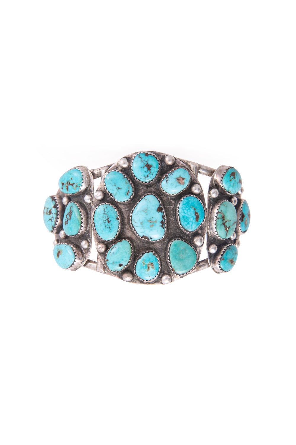 Cuff, Cluster, Turquoise, Vintage, 2502