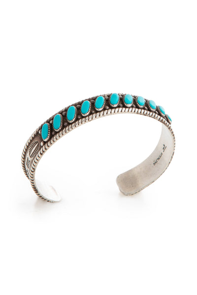 Cuff, Turquoise, Row, Bell Trading Post, Old Pawn, Vintage