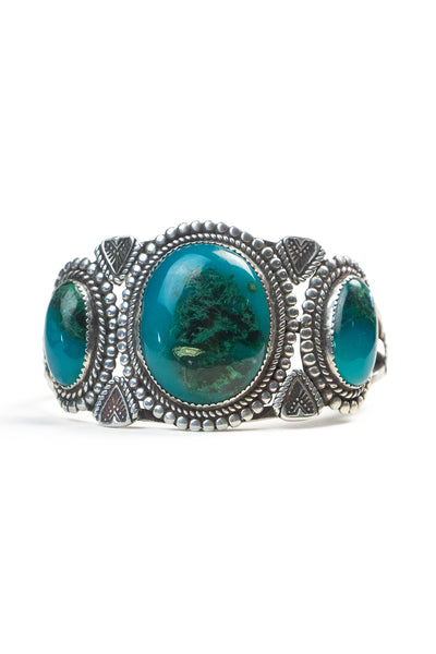 Cuff, Turquoise, 3 Stone, Vintage, 2540