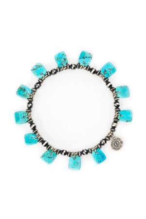 Bracelet, Stretch, Neo Nomad with Turquoise