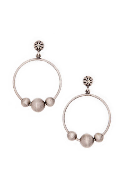 Earrings, Hoop, Sterling Silver, Lorenzo, 151
