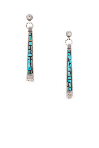 Earrings, Mosaic, Turquoise, Prayer Sticks, 159