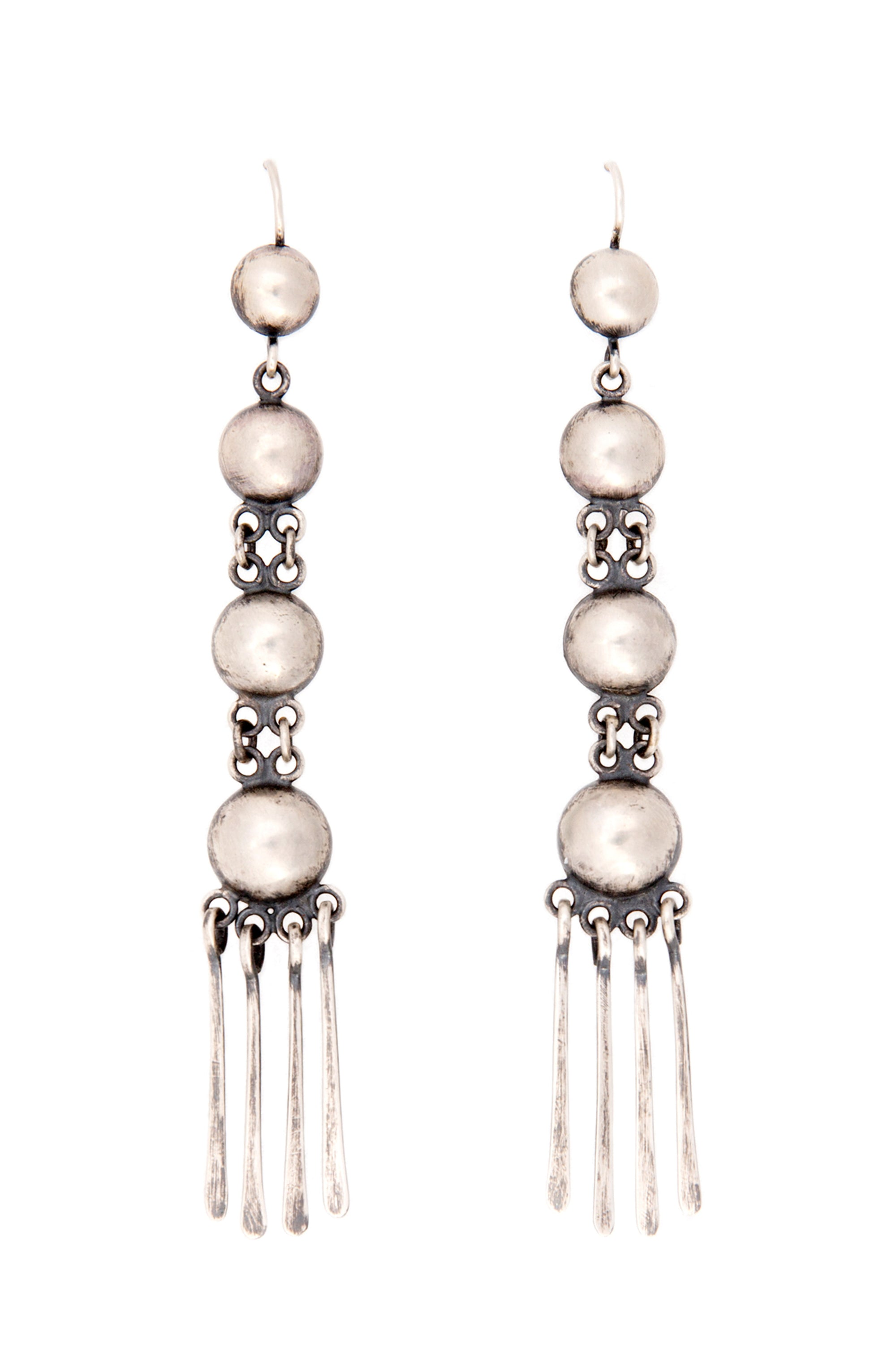 Earrings, Concho, Sterling Silver, Rain Dance, 193