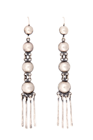 Earrings, Concho, Rain Dance