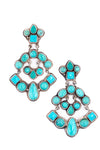 Earrings, Cluster, Turquoise, Sky City, 196