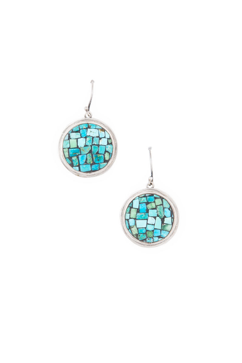 Earrings, Mosaic, Turquoise, Isabella, 309