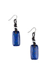 Earrings, Slab, Lapis, Luz