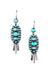 Earrings, Cluster, Turquoise, Hildago, 350